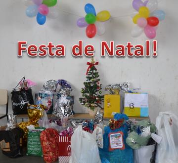 Festa De Natal Para As Crianças E Adolescentes Da Casa Lar